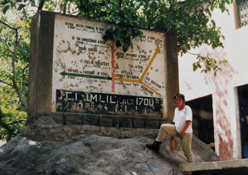 At the foot of Mount Toubkal, Morocco 1987