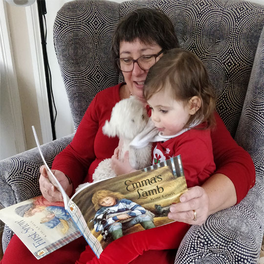 Daisy Reading with Nanny